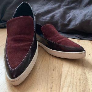 Aldo purple loafer flats